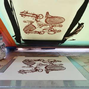 Image 286 - At Work on paper Shakti-Yoni-3-2017, JP Sergent