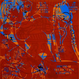 Mayan Diary, 2009, acrylic silkscreen on plexiglass & tinted plexiglass